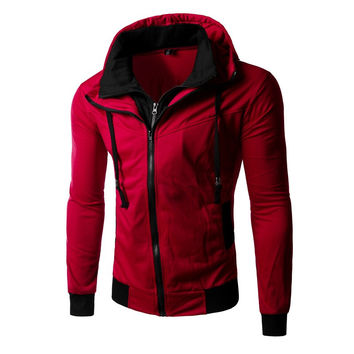 Men Casual Hoodies Hats Slim Men's Fashion Jacket [6528648259]