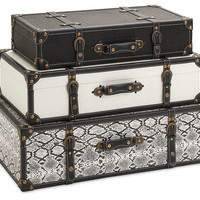 Asst. of 3 Aberdeen Trunks, Black, Boxes