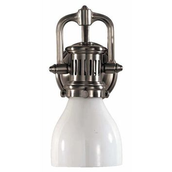 Visual Comfort and Company SL2975AN-WG Antique Nickel Yoke Suspended Wall Sconce