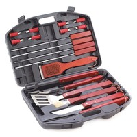 Deluxe Stainless Steel w/ Wood Handle Barbeque Grill Tools Set