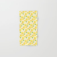 Lemon Pattern Hand & Bath Towel by Smyrna
