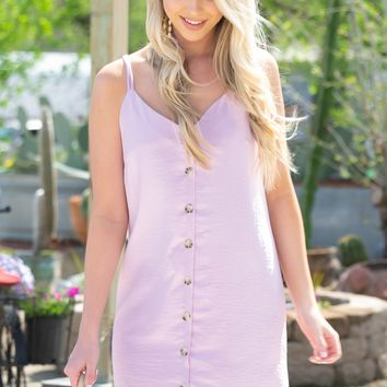 Vintage Back Tie Dress | Light Orchid