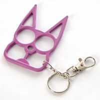 PARA Cat Self Defense Safety Keychain Key Ring Holder Purple