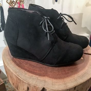 The Patricia Black Wedge Booties