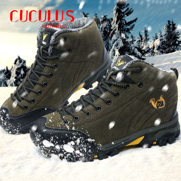 High quality Foreign trade the original single men high help waterproof outdoor hiking boots shoes unisex trekking shoes
