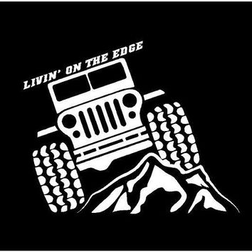 Jeep Life Decal Jeep Life Car Decal Jeep Livin on the edge jeep decal jeep  Vinyl decal Jeep Life window decal custom sticker Jeep Decal