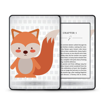 What does the Red Tailed Fox Say Skin for the Amazon Kindle Tablet
