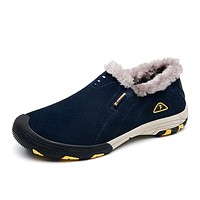 Winter Plush Waterproof Slip On Casual Shoes