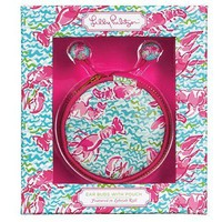 Earbuds with Pouch in Lobstah Roll by Lilly Pulitzer