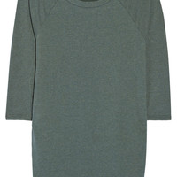 James Perse - Raglan-sleeve cotton-blend jersey mini dress