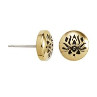 Lotus Peace Petals Sacred Studs Post Earrings