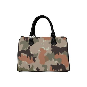 Personalized Women Bag Desert Camouflage Boston Top Handbag