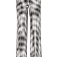 Sonia Rykiel - Gingham twill wide-leg pants