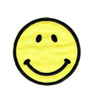 Yellow Smiley Face Patch