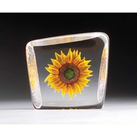 Mats Jonasson M33869 Floral Fantasy Yellow Sunflower Crystal Artwork