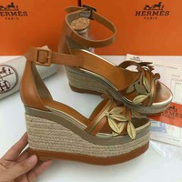 HERMES Women Fashion Casual Heels Shoes