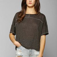 BDG Contrast-Stitch Boxy Top - Urban Outfitters
