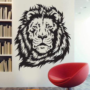 New Arrival  Lion King Of The Jungle Wall Stickers Art Room Decor Sticker Vinyl Mural Animal Lion Decals ES-60