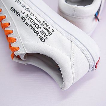 virgil abloh off white x vans old skool sneaker shoe