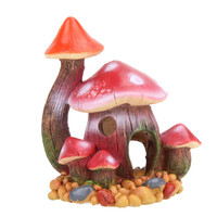 Artificial Resin Aquarium Ornament Fish Tank Accessories Mushroom House Fish Tank Decoration