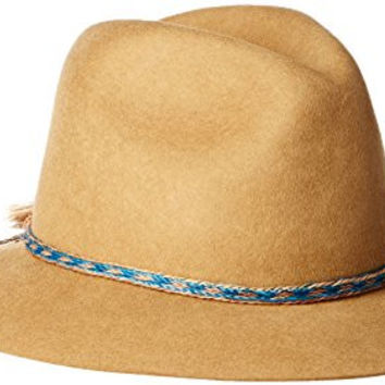 'ale by alessandra Women's Cavalo Adjustable Felt Hat with Horse Tail Trim, Tabacco, One Size