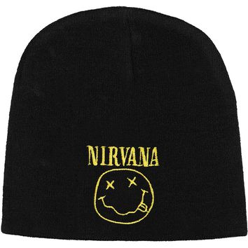 Nirvana Men's Smile Beanie Beanie Black