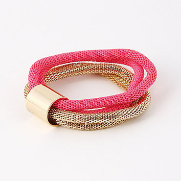 Two Tone Set Chain Rope Bracelet (more colors)