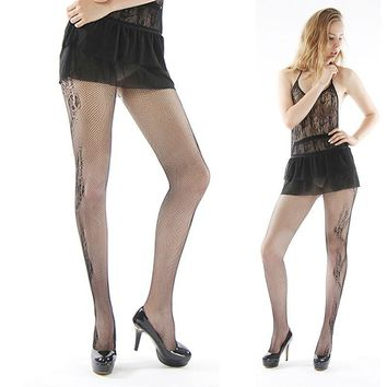 women stockings sexy mesh jacquard tattoo small net  solid Fishnet Pantyhosenight club stockings Thigh High Silk Stocking 141