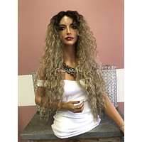 Wavy Blonde Swiss Wig 24"