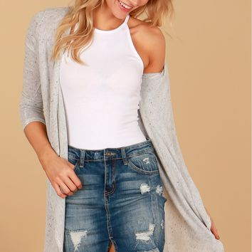 So Cute Knit Cardigan Grey