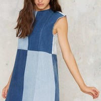 After Party Vintage Patch My Drift Denim Dress