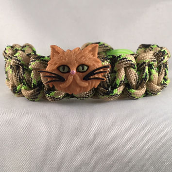 Chester the Cat- Children Paracord Heaven Survival Bracelet with Adjustable Knot Closure
