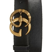 Gucci GG Marmont Snake Buckle Leather Belt   Nordstrom