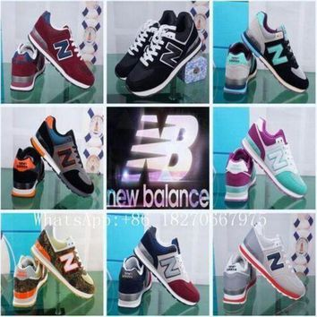 ICIKGQ8 2017 spring unisex zapatos new casual balanceds 574 men women new casual balanceds men women fashion shoes size 36 44 ba111