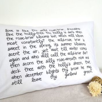 Personalised Quote Pillowcase