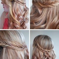 Romantic Soft Curly Fishtail Half Crown Hairstyle for Wedding | Hairstyles Weekly