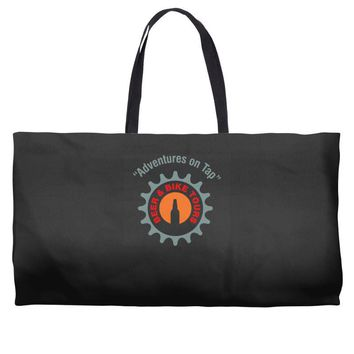 beer and bike tours Weekender Totes