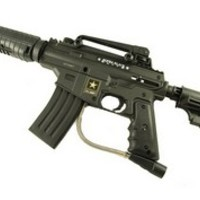 US Army Alpha Black Tactical Elite Paintball Gun With E Grip US Army Guns at Paintball Discounters