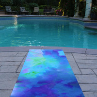 Blue Yoga Mat / Yoga Mats / Gift Idea / Gift ideas / Yoga Accessories / Blue Yoga Mats