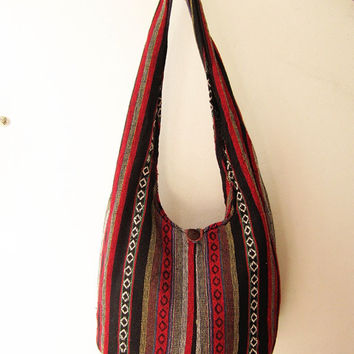 bohemian crossbody purse , ethnic messenger bag, aztec sling bag, tribal hobo bag, indian geometric bag