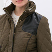 COMBINATION QUILTED JACKET