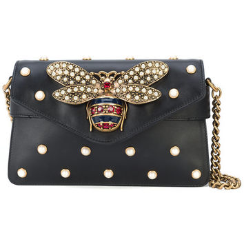 Gucci Vintage Bee Studded Shoulder Bag - Farfetch