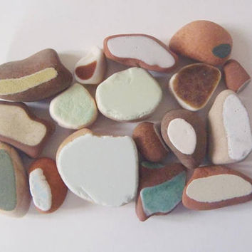 17 mini italian sea pottery tiny pieces beach pottery mosaic tyle beach supplies terracotta surfer for sea finds diy ceramic lasoffittadiste