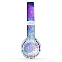 The Magical Abstract Pink & Blue Floral Skin Set for the Beats by Dre Solo 2 Wireless Headphones