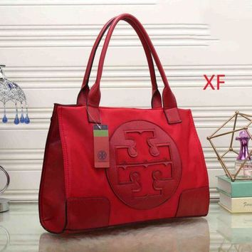 LMFON Day-First? Tory Burch Women Leather Flower Print Shopping Tote Handbag Shoulder Bag I-MYJSY-BB