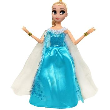 NK One Set Original Princess Doll Dress Fairy Tale Anna Elsa Costumes Party Outfit For Barbie Doll Best Girls' Gift