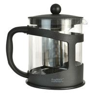 STUDIO Glass Teapot w/ Stainless Steel infuser Black
