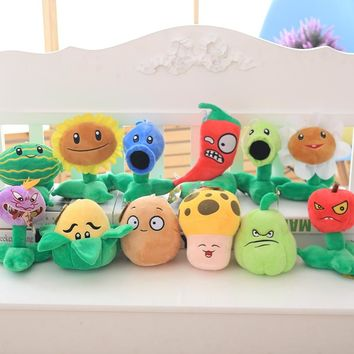 21 Styles Plants vs Zombies Plush Toys 20-30cm Plants vs Zombies Soft Stuffed Plush Toys Doll Baby Toy for Kids Gifts Party Toys
