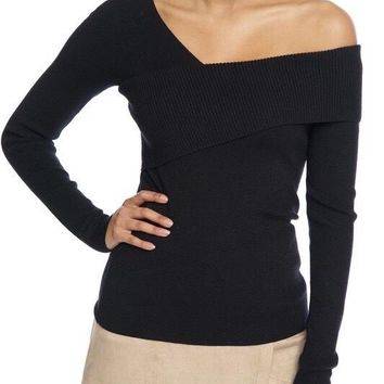 Colbie Off the Shoulder Sweater - Black