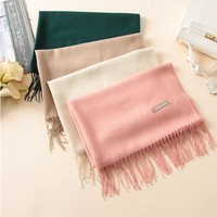 Scarf Unisex Female Male Best Quality Wool  Cashmere Scarf Pashmina Tassels Women Men Wrap 2017 Keep warm